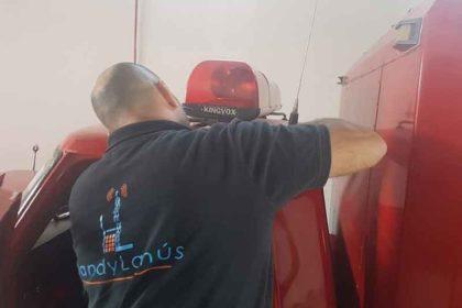 Instalación en Bomberos Voluntarios de Francisco Madero